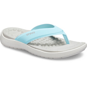 Crocs Reviva - Sandales Femme - blanc/turquoise